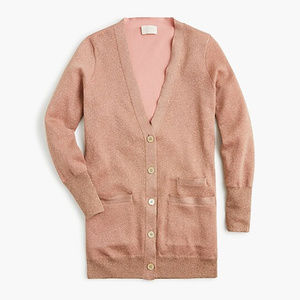 J. Crew Collection long sparkle cardigan sweater